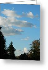 A Touch Of Cloudy Greeting Card
