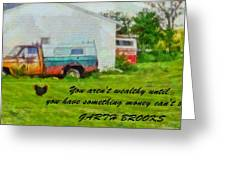 A Touch Of Country Greeting Card