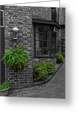 A Touch Of Green In The City Greeting Card by Dan Sproul