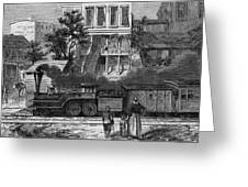 A Train Of The Camden & Amboy Greeting Card