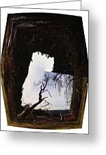 A Tree In A Square Abstract Greeting Card
