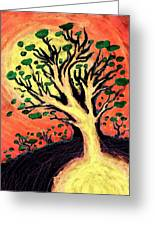 A Tree Is Born Greeting Card by David Condry