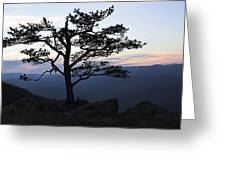 A Tree Of Mountains Greeting Card