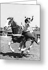 A Trickriding Cowgirl Greeting Card