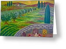 A Tuscan Balcony Greeting Card