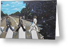 A Twist On Abbey Road By Erik Franco.  Greeting Card