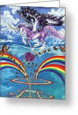 A Unicorn's Love Greeting Card