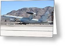 A U.s. Air Force E-3a Sentry Taking Greeting Card