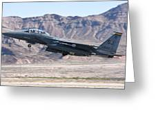 A U.s. Air Force F-15e Strike Eagle Greeting Card