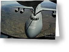 A U.s. Air Force Kc-135r Stratotanker Greeting Card