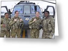 A U.s. Army All Female Crew Greeting Card