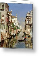 A Venetian Canal  Greeting Card
