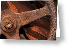 A Very Rusty Steering Wheel Greeting Card