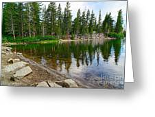 A Very Tranquil View Of Twin Lakes In Mammoth Lakes California Greeting Card by Jamie Pham