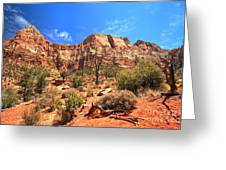 A View Along The Watchman Greeting Card
