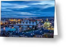 A View At Prague - Czech Republic Greeting Card