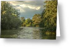 A View Down The Lake Greeting Card