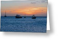 A View From A Catamaran2 - Aruba Greeting Card