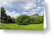 A View From Burrow Mump Greeting Card