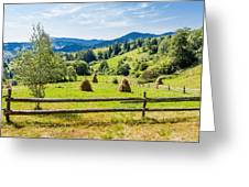 A View From Carpathians Greeting Card
