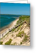 A View From Chappaquiddick Island Marthas Vineyard Massachusetts Greeting Card