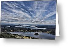 A View From Mt. Erie Greeting Card