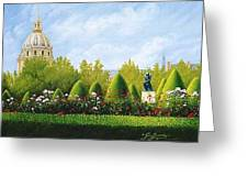 A View From Rodins Garden In Paris France Greeting Card