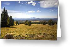 A View From The Peaks  Greeting Card