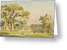 A View Of Chirk Castle, 1916 Greeting Card