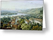 A View Of Karlsruhe Greeting Card
