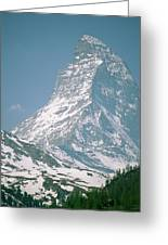 A View Of The Majestic Matterhorn Greeting Card