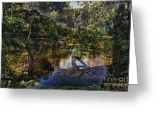 A View Of The Nature Center Merged Image Greeting Card