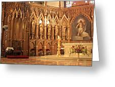 A View Of The St. Patrick Old Cathedral Altar Area Greeting Card