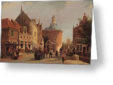 A View Of The Zuiderspui Greeting Card