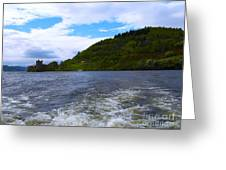 A View Of Urquhart Castle Greeting Card