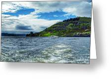 A View Of Urquhart Castle From Loch Ness Greeting Card