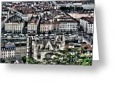 A View Of Vienne France Greeting Card