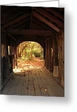 A View Through The Bridge Greeting Card