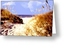 A View Through The Dunes To The Ocean Greeting Card