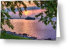 A View To A Sunset Greeting Card
