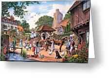 A Village Wedding Greeting Card