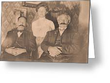 A Vintage Photo Of People Greeting Card