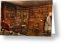 A Visit To The Doctor's Office - Old Time Physician Office - Doctors - Pharmacists - Opticians Greeting Card