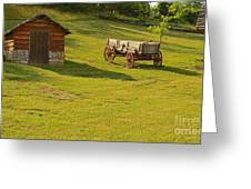 A Wagon   Let's Work Greeting Card