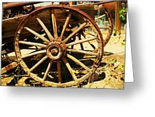 A Wagon Wheel Greeting Card