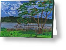 A Walk By Lake Clay Greeting Card