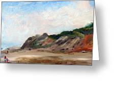 A Walk Down Cahoon Hollow Beach Greeting Card
