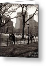 A Walk In Central Park - Antique Appeal Greeting Card