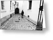 A Walk In Prague Greeting Card