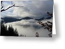 A Walk In The Clouds Greeting Card